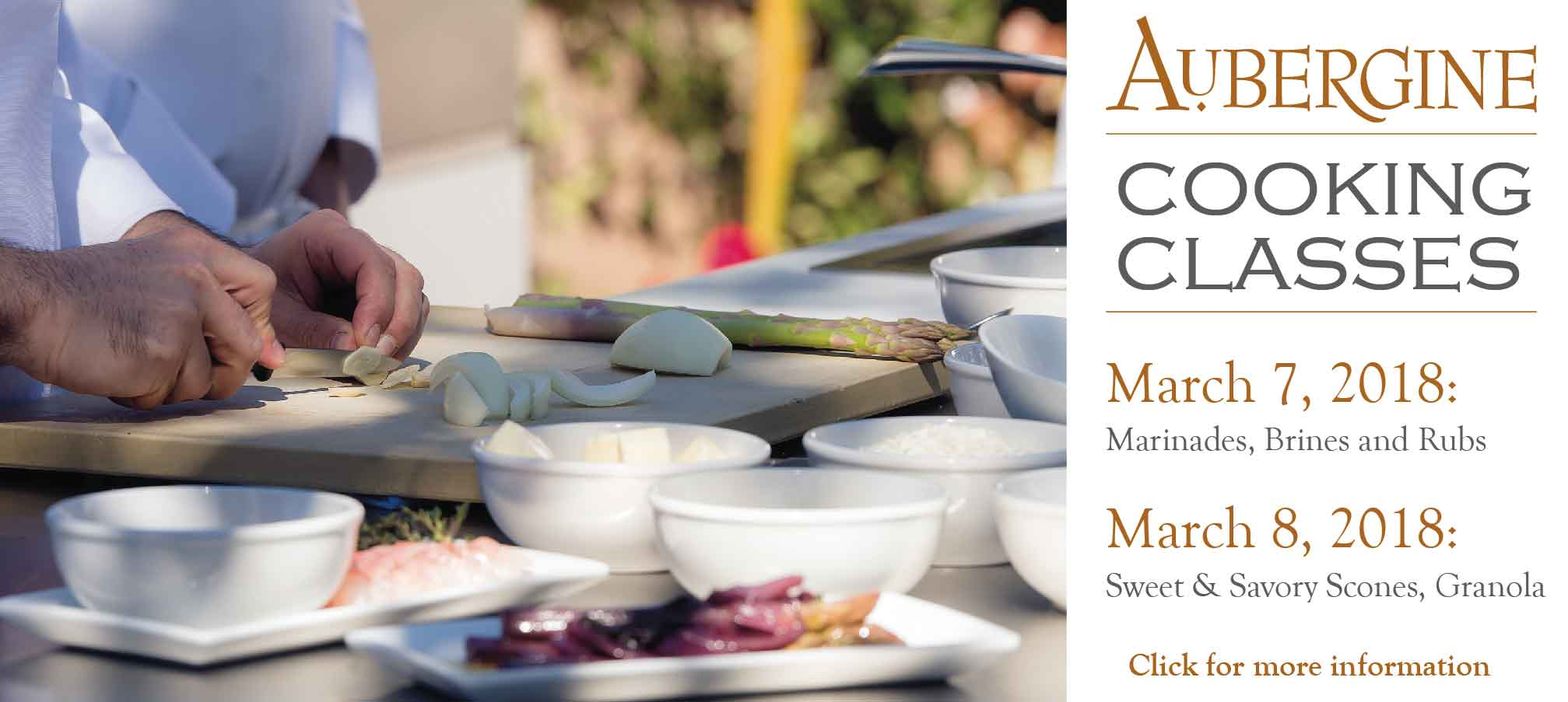 March Cooking Classes